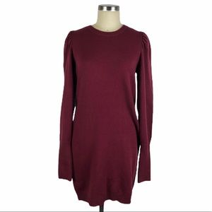 WAYF San Francisco Puff Sleeve Sweater Dress S NWT